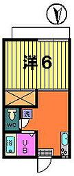 第二オリオンハイツ[2−A号室]の間取り