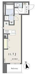 荒町賃貸住宅 4階ワンルームの間取り
