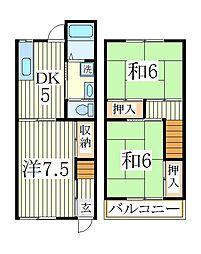 ガーデンテラスK.N[1階]の間取り
