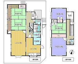 JR関西本線 加茂駅 バス9分 塚穴公園下車 徒歩11分 5LDKの間取り