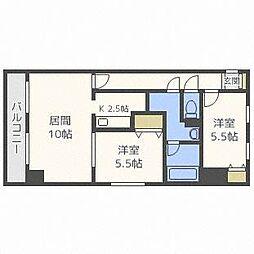 北海道札幌市東区北三十七条東22丁目の賃貸マンションの間取り