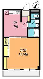 埼玉県上尾市本町1丁目の賃貸マンションの間取り