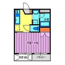 埼玉県川越市霞ケ関東1丁目の賃貸マンションの間取り