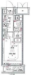 リヴシティ横濱関内 4階1Kの間取り