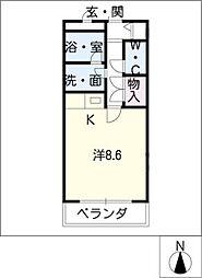 メゾンドF[2階]の間取り