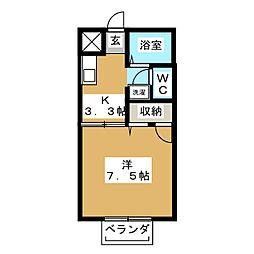 ドエル・エス2[2階]の間取り