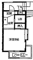 神奈川県相模原市緑区橋本5の賃貸マンションの間取り