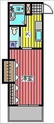 ツーカコーポ[2階]の間取り
