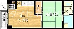 大阪府大阪市旭区赤川2丁目の賃貸マンションの間取り