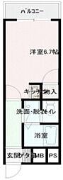大阪府大阪市平野区長吉長原西1丁目の賃貸マンションの間取り