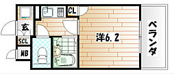 ライオンズマンション三萩野駅前[8階]の間取り
