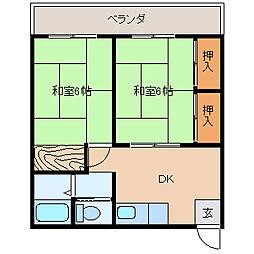 姉崎グリーンハイツI[203号室]の間取り