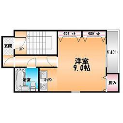 松村ビル[4階]の間取り