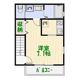 東京都葛飾区東金町7の賃貸アパートの間取り