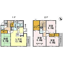 [一戸建] 兵庫県姫路市飾磨区中島 の賃貸【/】の間取り