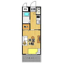 クレアール立花[2階]の間取り