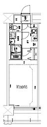Osaka Metro堺筋線 天神橋筋六丁目駅 徒歩10分の賃貸マンション 2階1Kの間取り