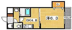 トゥリオ・イン[1階]の間取り