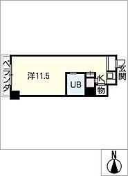 ダイアパレス伏見806、407号室[4階]の間取り
