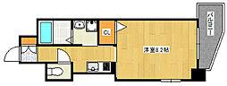 阪急神戸本線 六甲駅 徒歩9分の賃貸マンション 2階1Kの間取り