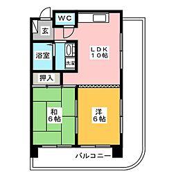 都屋ビル[3階]の間取り
