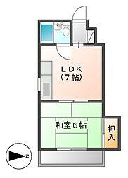 サンダイ栄ビル[4階]の間取り