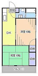 東京都東村山市萩山町4丁目の賃貸アパートの間取り