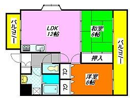 マンション・RIVIERE 501号室[5階]の間取り