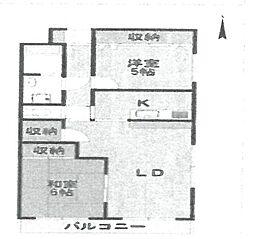 ミレア武庫之荘[403号室]の間取り
