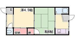 野口荘[5号室]の間取り