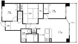ヴェルデサコート桜ヶ丘 - Bタイプ[302号室]の間取り