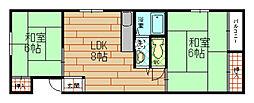 ハイツカトレア[2階]の間取り