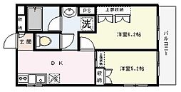 カーサMIYUKI[303号室]の間取り