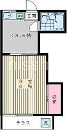 405−サンワカミヤ[103号室]の間取り