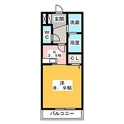 カ−サ・ポプルス[1階]の間取り