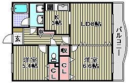 グリーンパーク樽井[1階]の間取り