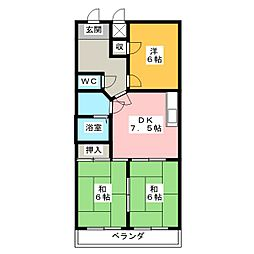 徳松ビル[2階]の間取り