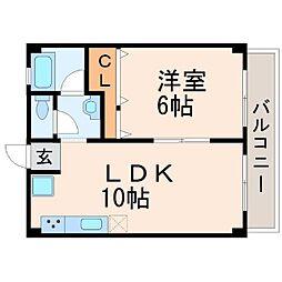 西宮フラワーハイツ[4階]の間取り