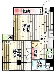 東京都中野区江古田4丁目の賃貸マンションの間取り