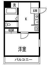 F5ハクジュハウス[112号室]の間取り