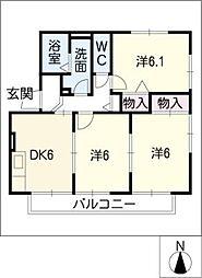 サンエイト梅坪[2階]の間取り