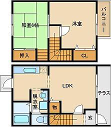 [テラスハウス] 大阪府八尾市太田3丁目 の賃貸【/】の間取り