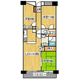 エフローレ新越谷ロイヤルガーデン[10階]の間取り