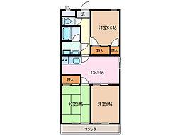 ファミール西浜田・南館[2階]の間取り