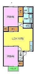 シャトードイワネ16号館[1階]の間取り
