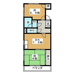 プログレス宝 A棟[3階]の間取り