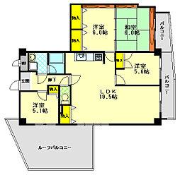 ビバリーハウス青谷壱番館 2階4LDKの間取り