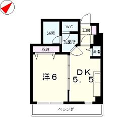 滋賀県大津市中央3丁目の賃貸マンションの間取り