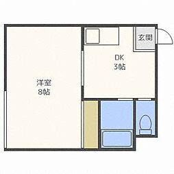 第2澄川銀座パレス[4階]の間取り