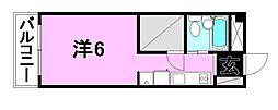 ミカハウス[702 号室号室]の間取り